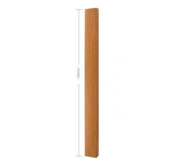Oak Planed Blank Half Newel Post - 1500mm