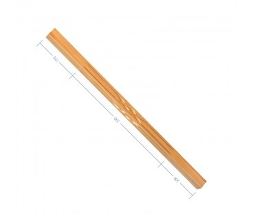 Oak Contour Balust No. 5. Interwoven Flute 900mm
