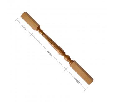 Oak Craftsmans Choice Trentham Flute Turned Spindle - 900mm