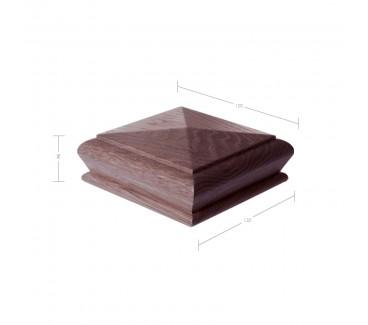 American Black Walnut Pyramid Newel Post Cap to suit 90mm x 90mm Newel Post