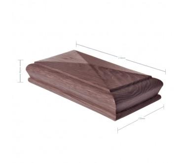 American Black walnut Pyramid Newel Post Cap to suit 90mm x 180mm Newel Post