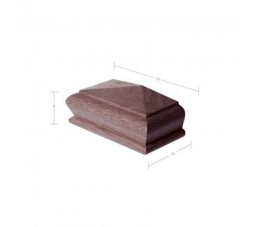 American Black Walnut Pyramid Half Newel Post Cap to suit 90mm x 90mm Newel Post