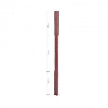American Black Walnut Stop Chamfer Spindle - 1100mm