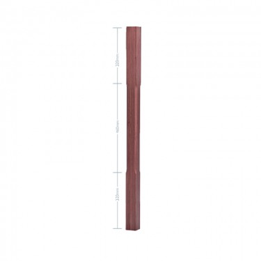 American Black Walnut Stop Chamfer Spindle - 56mm x 1100mm