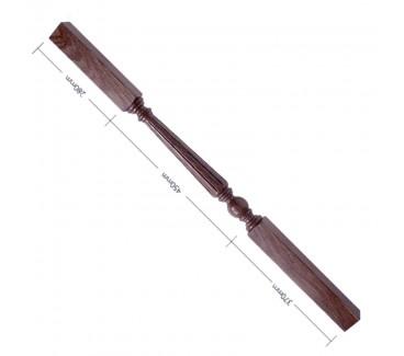 American Black Walnut Craftsmans Choice Trentham Flute Turned Spindle - 1100mm