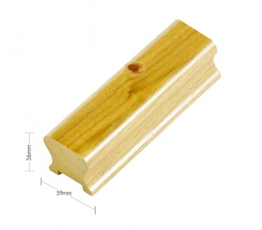 Pine Contemporary Handrail - 32mm groove including infill - 2400mm
