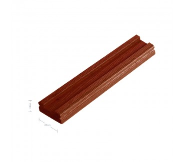 Sapele Signature Baserail - 41mm groove including infill - 2400mm