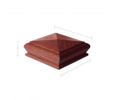 Sapele Pyramid Newel Post Cap to suit 90mm x 90mm Newel Post