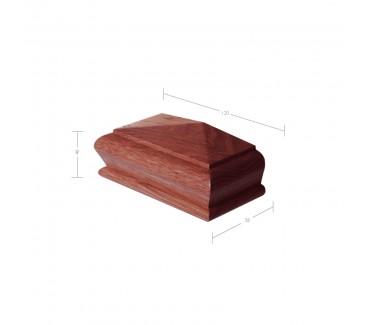 Sapele Pyramid Half Newel Post Cap to suit 90mm x 90mm Newel Post