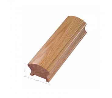 Oak Craftsmans Choice Reduced Size Handrail 1800mm - 41mm Groove