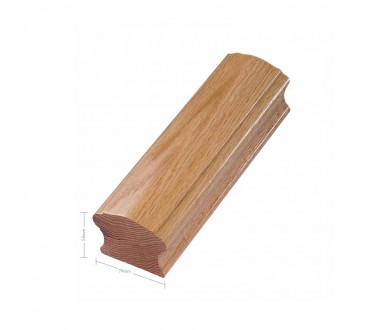 Oak Craft Choice Reduced Handrail 3600mm No Groove
