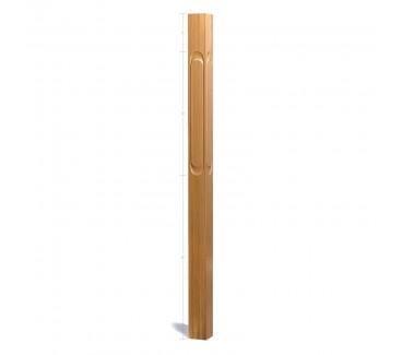 Oak Contour Newel No. 1. Loop - 1500mm