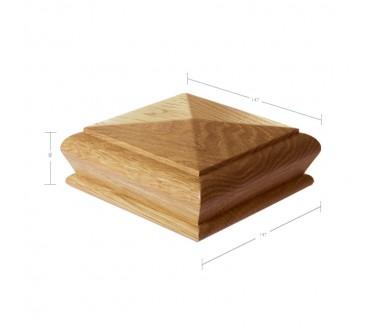 Oak Pyramid Cap to suit 117mm x 117mm Newel Post