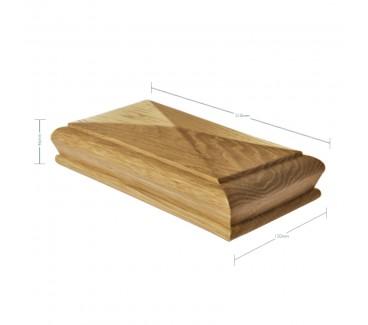 Oak Pyramid Newel Post Cap to suit 90mm x 90mm Newel Post