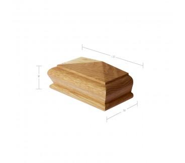 Oak Pyramid Half Newel Post Cap to suit 90mm x 90mm Newel Post