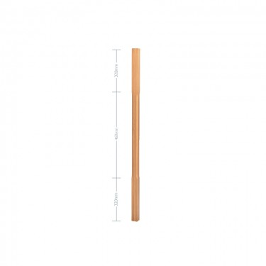 Oak Stop Chamfer Spindle - 32mm x 1100mm