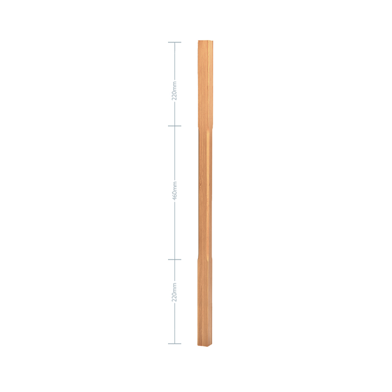 Oak Stop Chamfer Spindle - 1100mm