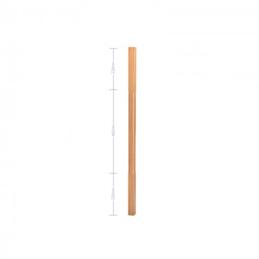 Oak Stop Chamfer Spindle - 32mm x 900mm