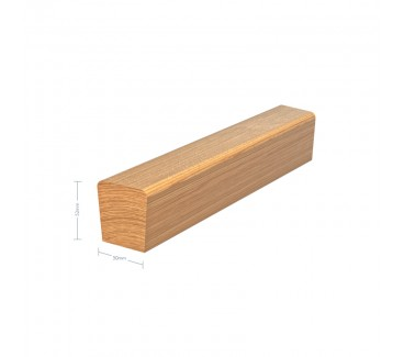 Oak Tapered Handrail with No groove - 3600mm