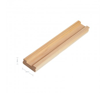 Pine Signature Baserail - 32mm groove including infill - 1800mm