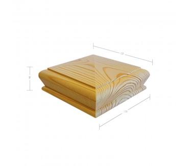 Pine Pyramid Newel Post Cap to suit 90mm x 90mm Newel Post