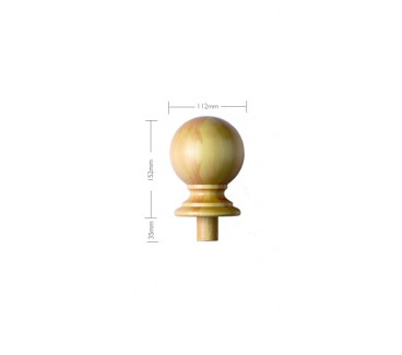 Pine Craftsmans Choice Trentham Newel Post Cap - 150mm